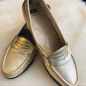 SAS Tripad Comfort Metallic Gold Slip On Loafers